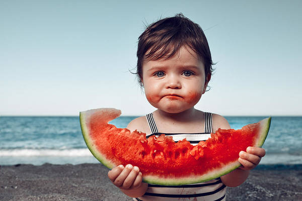 Child Art Print featuring the photograph Is It Delicious?! by Stock_colors