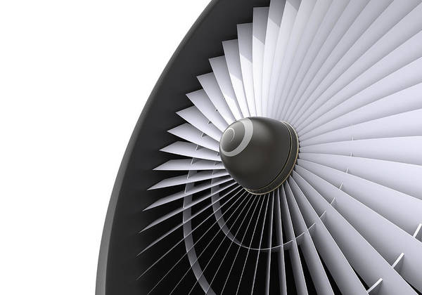 Engine Art Print featuring the photograph Jet Turbine by Klenger