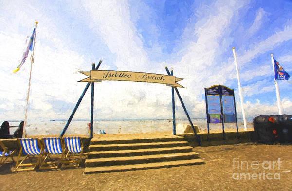 Jubilee Beach Art Print featuring the photograph Jubilee Beach Southend On Sea by Sheila Smart Fine Art Photography