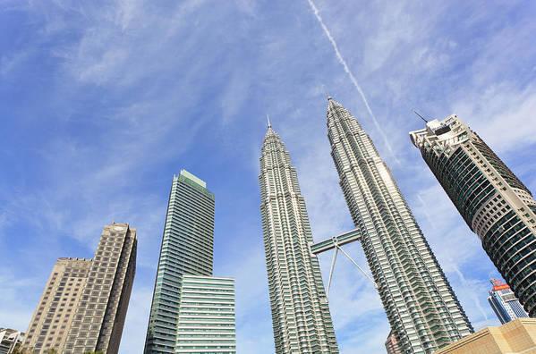 Corporate Business Art Print featuring the photograph Kuala Lumpur Skyline by Tom Bonaventure