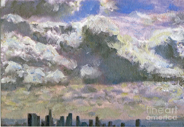 Clouds Art Print featuring the painting LA Equivalent by Randy Sprout