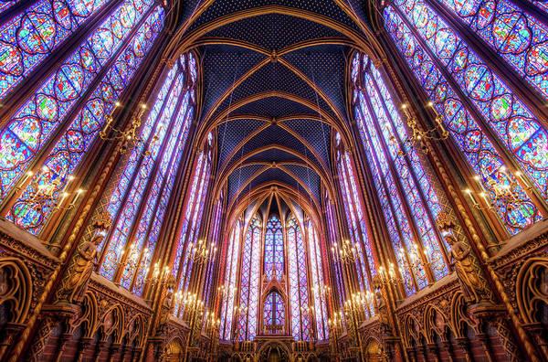 Arch Art Print featuring the photograph La Sainte-chapelle Upper Chapel, Paris by Joe Daniel Price