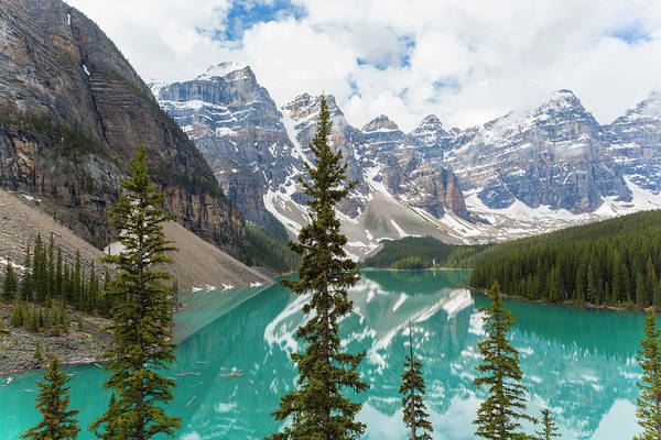 Scenics Art Print featuring the photograph Lake Moraine, Banff National Park by Peter Adams