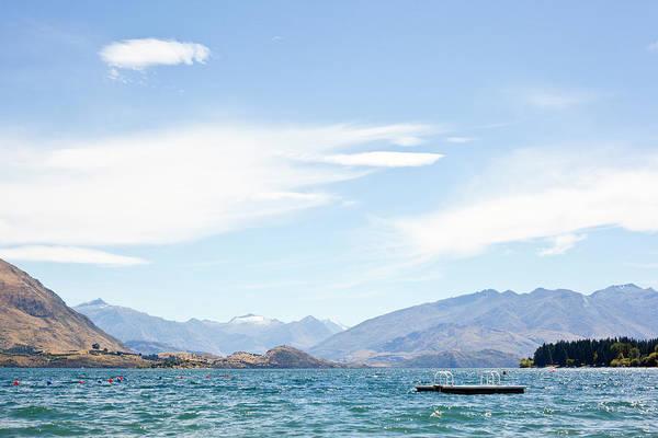 Scenics Art Print featuring the photograph Lake Wanaka Diving Platform by Phillip Suddick