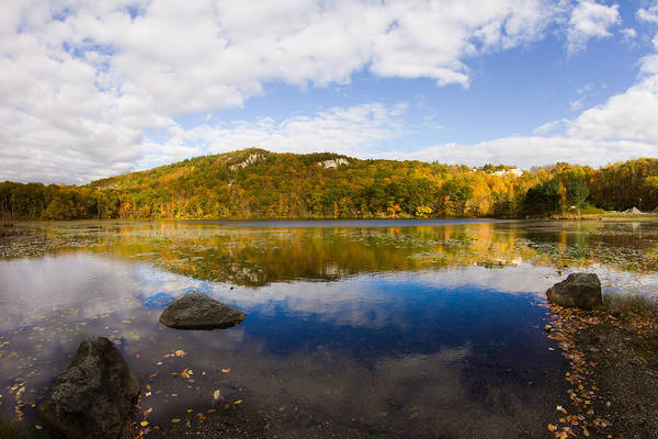 Lantern Hill Pond Art Print featuring the photograph Lantern Hill Pond - North Stonington CT by Kirkodd Photography Of New England