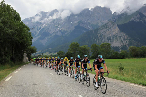 Team Sky Art Print featuring the photograph Le Tour De France 2013 - Stage Eighteen by Doug Pensinger