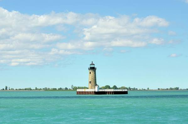 Scenics Art Print featuring the photograph Lighthouse Lake St. Clair by Rivernorthphotography