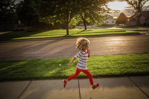 4-5 Years Art Print featuring the photograph Little Girl Running by Annie Otzen