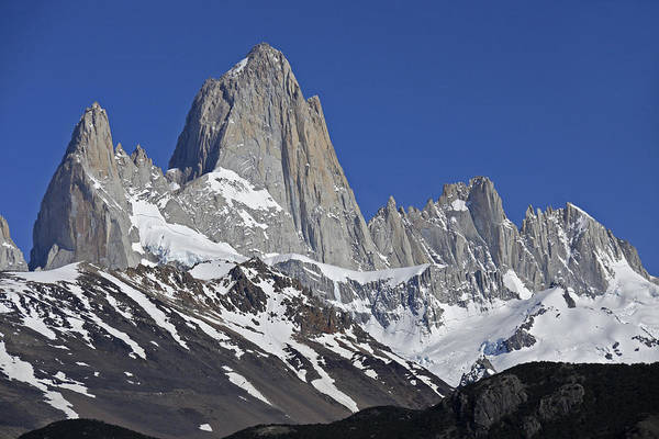 Argentina Art Print featuring the photograph Lofty Mount Fitz Roy by Michele Burgess