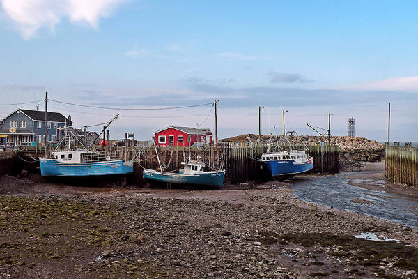 Low Tide Art Print featuring the photograph Low Tide At Harbourville Nova Scotia by Brian Chase
