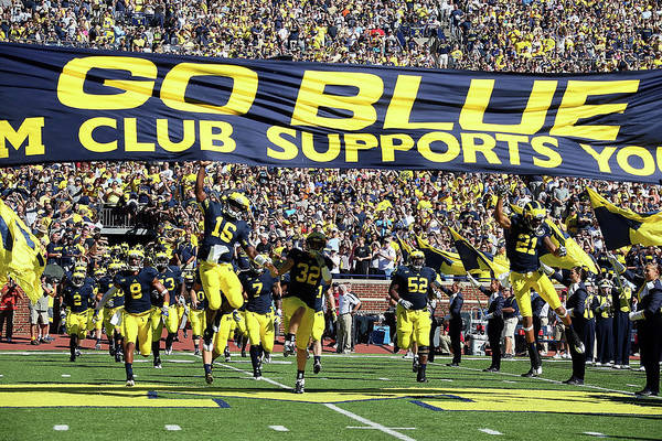 Michigan Stadium Art Print featuring the photograph Massachusetts V Michigan by Dave Reginek