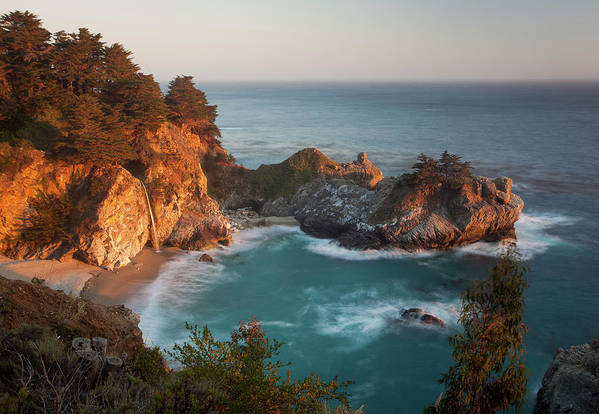 Scenics Art Print featuring the photograph Mcway Falls At Sunset by Sean Duan