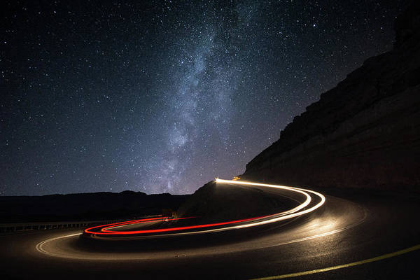 Milkyway Art Print featuring the photograph Milky Way Over Mitzpe Ramon by Erez Vansover