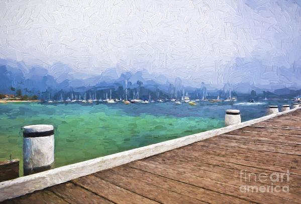 Mist Art Print featuring the photograph Mist over Palm Beach by Sheila Smart Fine Art Photography