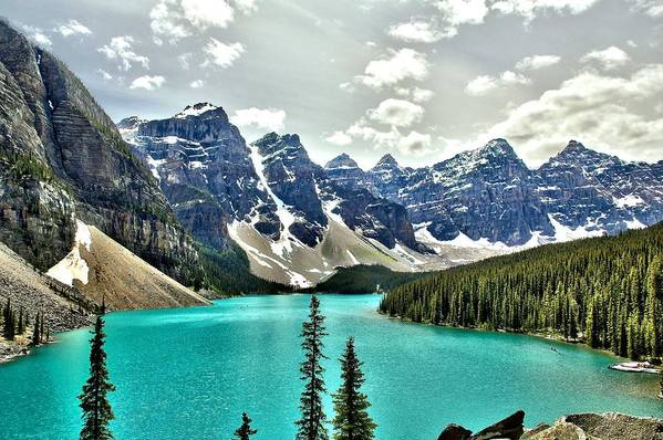 Tranquility Art Print featuring the photograph Moraine Lake, Banff National Park by Spierry Images