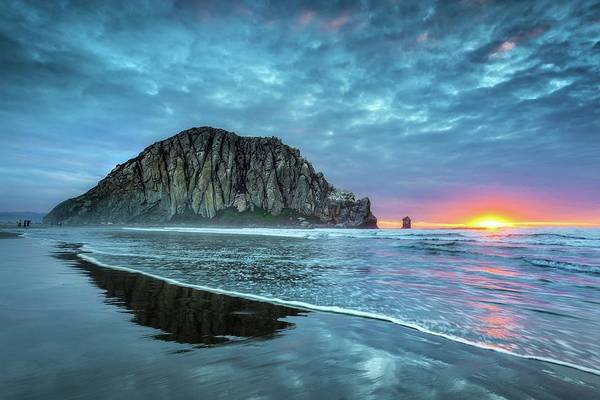 Tranquility Art Print featuring the photograph Morro Sunset by Tom Grubbe