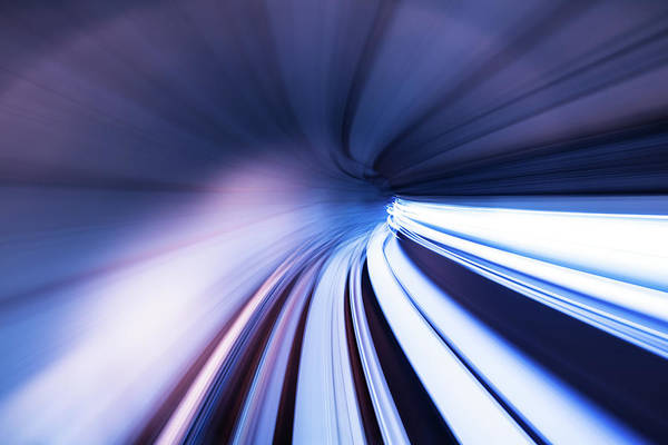 Curve Art Print featuring the photograph Motion Tunnel by Loveguli