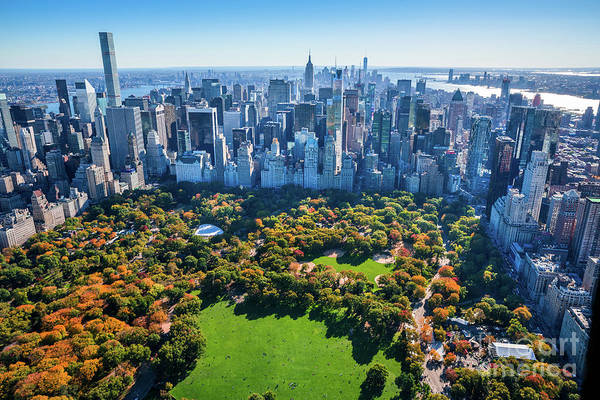 Central Park Art Print featuring the photograph New York City Skyline, Central Park by Dszc