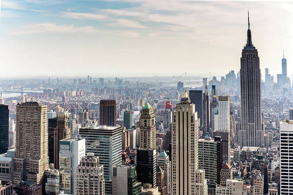 Scenics Art Print featuring the photograph New York City Skyline by Denise Panyik-dale