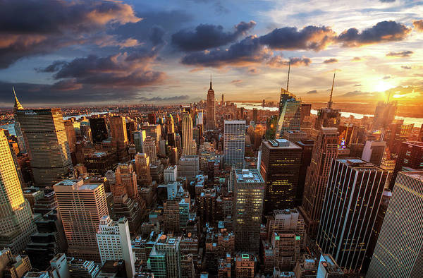 Tranquility Art Print featuring the photograph New York City Skyline by Dominic Kamp Photography