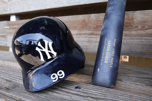 Headwear Art Print featuring the photograph New York Yankees v Baltimore Orioles by Mike McGinnis