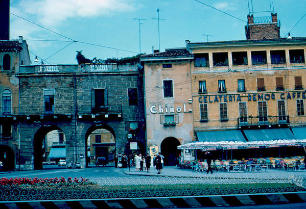 Vicenza Art Print featuring the photograph Old City Gate Vicenza 2 1962 by Cumberland Warden