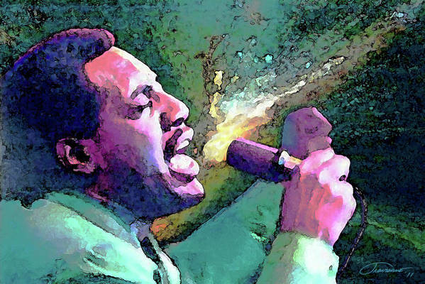 Otis Redding Art Print featuring the painting Otis Redding by John Travisano
