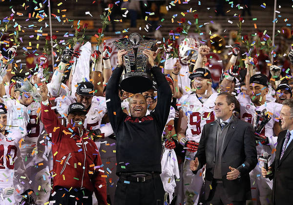 Celebration Art Print featuring the photograph Pac 12 Championship - Stanford V by Christian Petersen