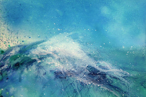 Gouache Art Print featuring the digital art Painting Of An Ocean Wave by Brad Rickerby