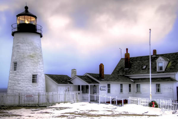 Bristol Art Print featuring the photograph Pemaquid Point Lighthouse by Brenda Giasson