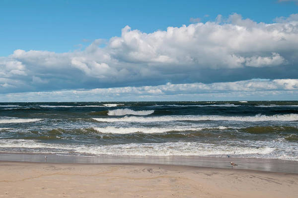Water's Edge Art Print featuring the photograph Poland, View Of Baltic Sea In Autumn At by Westend61