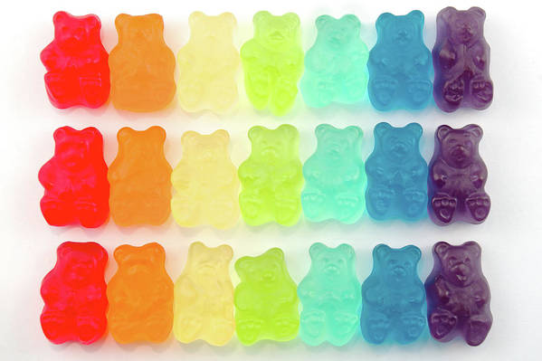 Order Art Print featuring the photograph Rainbow Jelly Bear Candy by Melissa Ross