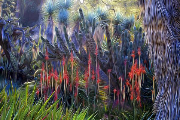 Aloe Art Print featuring the photograph Red Aloe - Huntington Gsrden by Saxon Holt