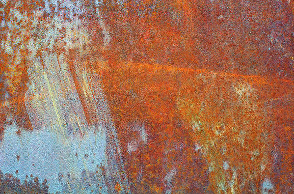 Aging Process Art Print featuring the photograph Rust On A Metal Surface by Rob Atkins