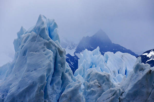 Argentina Art Print featuring the photograph Sculpture in Blue by Michele Burgess