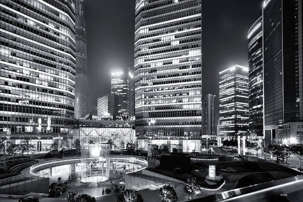 Financial District Art Print featuring the photograph Shanghai by Photographer - Rob Smith