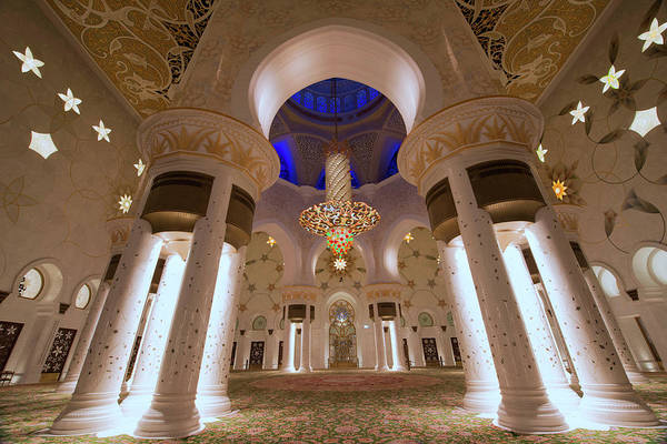 Arch Art Print featuring the photograph Sheikh Zayed Grand Mosque by Dany Eid Photography
