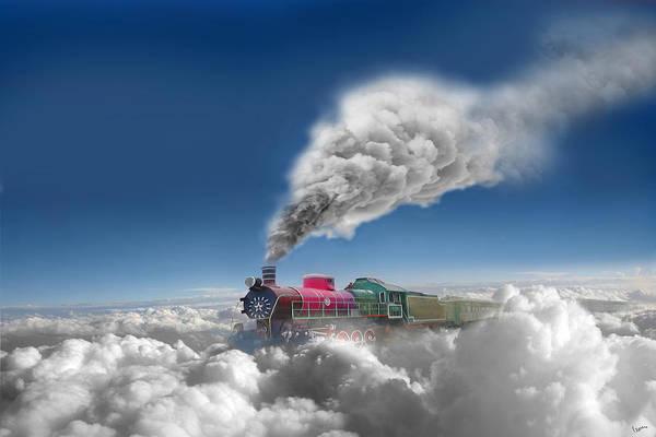 Clouds Art Print featuring the photograph Sky Express by Igor Zenin