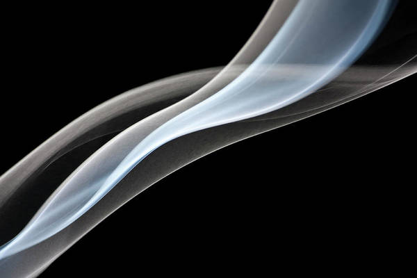 Curve Art Print featuring the photograph Smoke, Creative Abstract Vitality by Tttuna