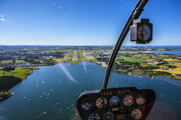 Water's Edge Art Print featuring the photograph Sola And Sola Airport, Aerial Shot by Sindre Ellingsen
