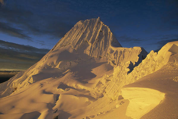 Feb0514 Art Print featuring the photograph Southwest Face Of Alpamayo Peru by Grant Dixon
