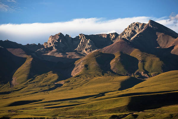 Scenics Art Print featuring the photograph Steppe Valley With Surrounding Peaks by Merten Snijders