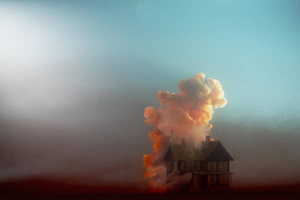 Model House Art Print featuring the photograph Submerged House by Paul Taylor