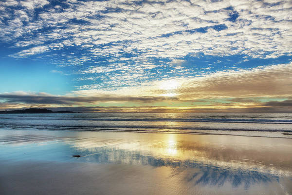 Tranquility Art Print featuring the photograph Sunset On Carmel Beach, California by Alvis Upitis