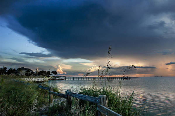 Sunset Art Print featuring the photograph Sunset On Tampa Bay by Norman Johnson