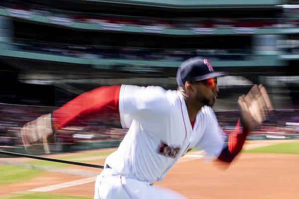 Three Quarter Length Art Print featuring the photograph Tampa Bay Rays v Boston Red Sox by Billie Weiss/Boston Red Sox