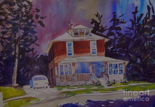 House Art Print featuring the painting That Michigan House by Judith Espinoza