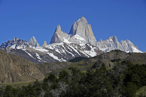 Argentina Art Print featuring the photograph The Fitz Roy Range by Michele Burgess