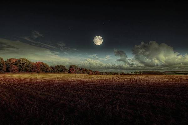 Tranquility Art Print featuring the photograph The Moon by A Goncalves