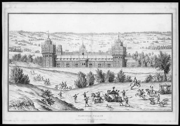 The Palace As Seen During The  Reign by Mary Evans Picture Library